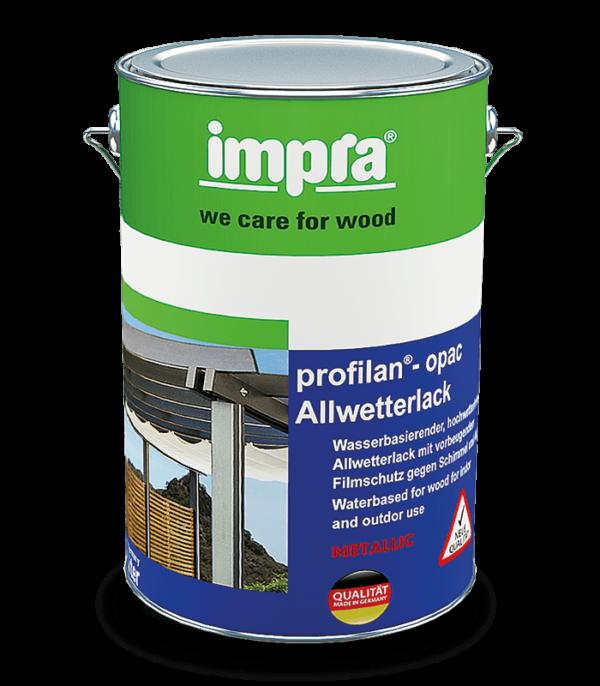 Profilan Opac Metallic Погодоустойчивая краска для древесины на водной основе Предназначена для внутренних и наружных работ С эффектом Металлик